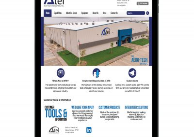 Aero-Tech Engineerings inc. Website iPad